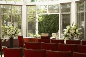 The Garden Room civil ceremony